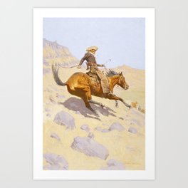 The Cowboy by Frederic Remington Kunstdrucke