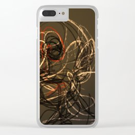 Old man wire pattern texture drawing illustration Clear iPhone Case
