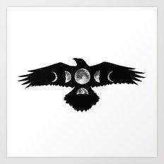 Celestial Crow Art Print
