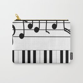 Music Notes with Piano Keyboard Carry-All Pouch