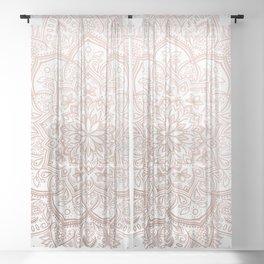Lace Mandala - Rosegold Sheer Curtain