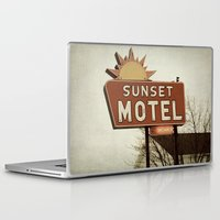 fargo Laptop & iPad Skins featuring Sunset Motel by angela haugland