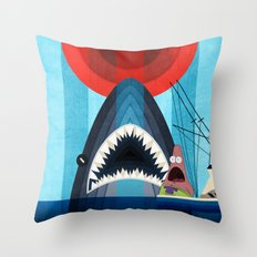 Gonna need a bigger boat Throw Pillow