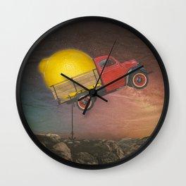 LEMON TRUCK Wall Clock
