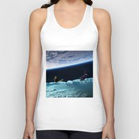 skiing Tank Tops featuring Skiing by Cs025