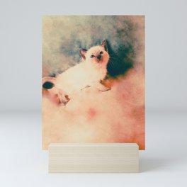 Sealpoint Siamese Kitten Named Little Boy Blue Mini Art Print