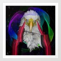 eagle Art Prints featuring eagle by mark ashkenazi