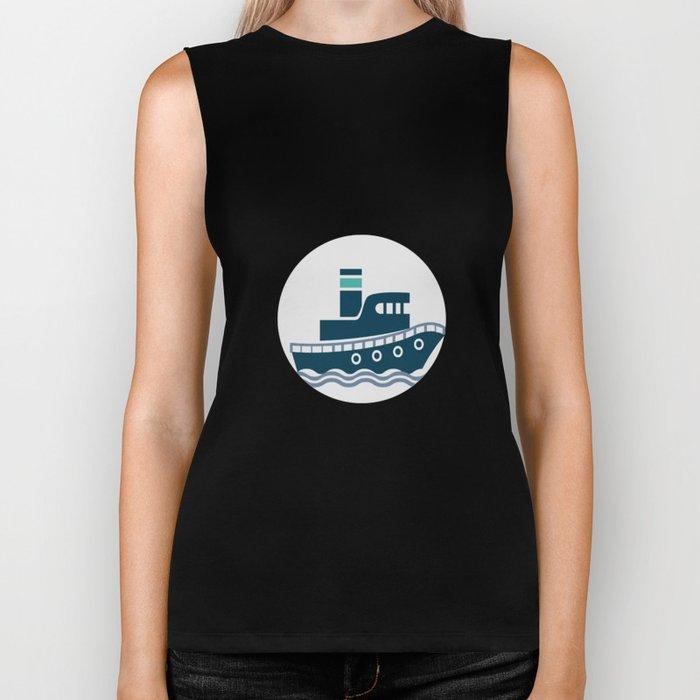 I Like Big Boats And I Cannot Lie Boating Funny Biker Tank