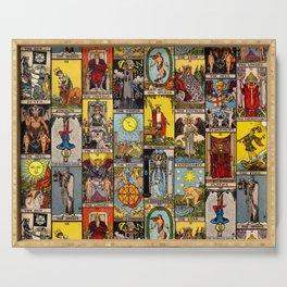The Major Arcana Tarot Collage Serving Tray