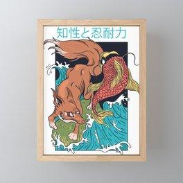 Fish and Fox Framed Mini Art Print
