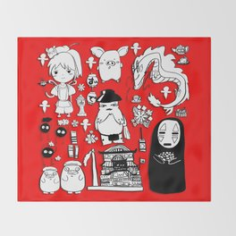 Spirit Away Characters Throw Blanket