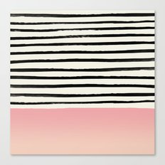 Blush x Stripes Canvas Print