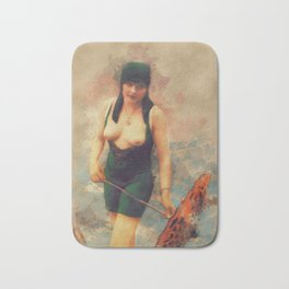 Vintage Nude by Mary Bassett Bath Mat