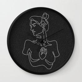 Beating Heart (black) Wall Clock