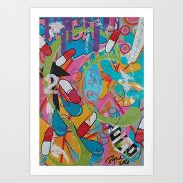 Chemical imbalance Art Print