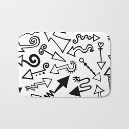 Arrow Doodles Bath Mat