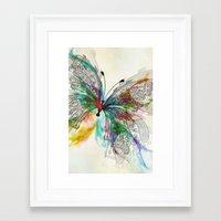 butterfly Framed Art Prints featuring Butterfly by Klara Acel