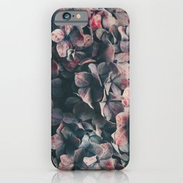 Hydrangea Flowers - Moody Blues iPhone Case