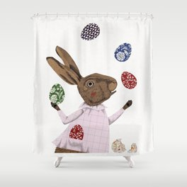 Hare-y Adventures Shower Curtain