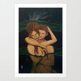 Coban Jodo (Jodo Waterfall) Art Print