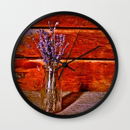 Milk Bottle Vase Wall Clock