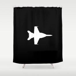 F-18 Hornet Fighter Jet Shower Curtain