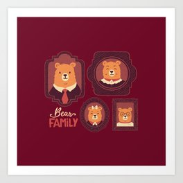 Bear Family Art Print