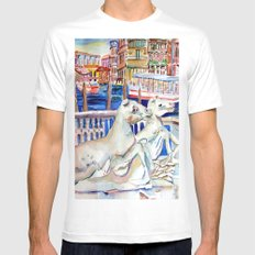 Grand Canal Venice Italy White MEDIUM Mens Fitted Tee