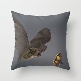 Brown Long-eared Bat Throw Pillow