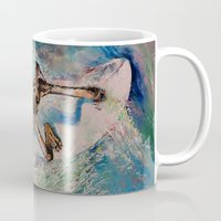 surfer Mugs featuring Surfer by Michael Creese