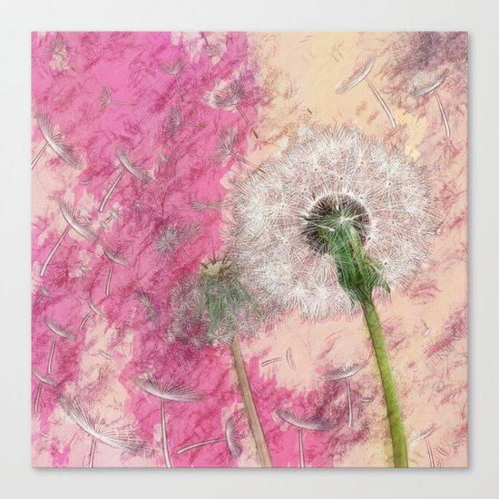 Dandelion - pastel fantasy Canvas Print