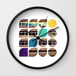 Cold Comfort Collage — Frontline Wall Clock