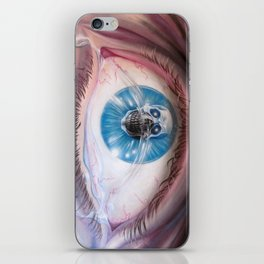 Death in the eyes iPhone Skin