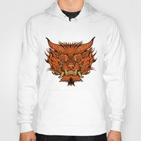 foo fighters Hoodies featuring Foo Dog by missmonster