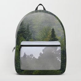 """""""Dream forest"""" Endemig trees into the fog Backpack"""