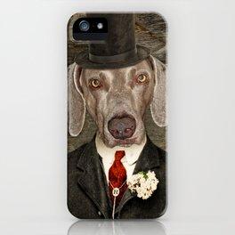 Weimaraner -Monsieur Rigg iPhone Case