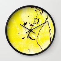nudes Wall Clocks featuring Nudes Art 2011 by Falko Follert Art-FF77