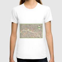 Paris, France City Map Vintage Poster, Eiffel Tower, Notre-Dame, Champs-Elysees, Arc de Triomphe, Latin Quarter T-shirt