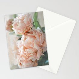 Peach Peonies Stationery Cards