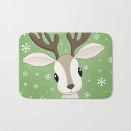 Cute Reindeer Bath Mat