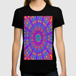 Happy Colors Explosion Psychedelic Mandala T-shirt