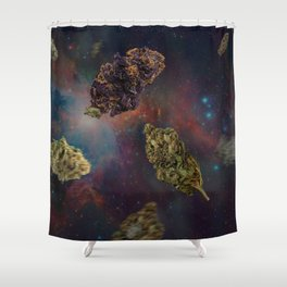 Weed in Space Shower Curtain