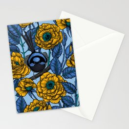 Wren in the roses Stationery Cards