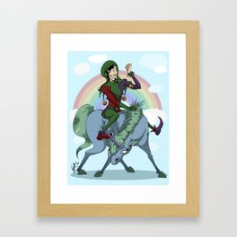 Rainbows are AWESOME Framed Art Print