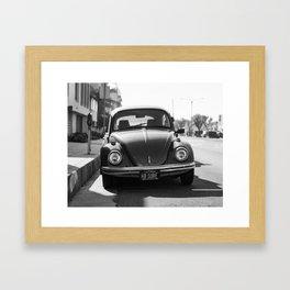Hermosa Beach Surf Bug, Black and White Photography Print, Beach Art, South Bay Los Angeles Art Framed Art Print