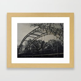 Rustic Steel Bridge Architectural Industrial A173 Framed Art Print