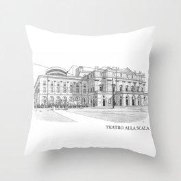 Scala di Milano (Italy) Throw Pillow