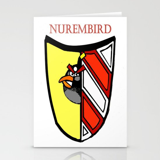 The Angry Nuernberg Nurembird Stationery Cards