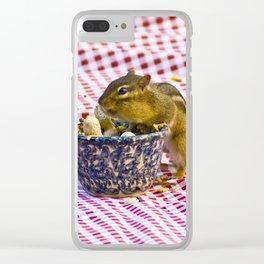 Chipmunk Picnic Clear iPhone Case
