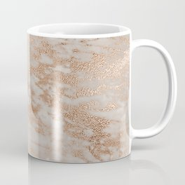 Rose Gold Copper Glitter Metal Foil Style Marble Coffee Mug